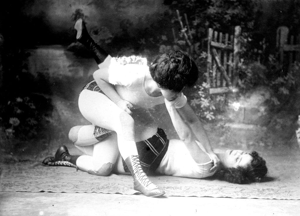 Bennet Sisters, vaudeville womens' wrestling