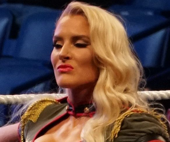 Lacey Evans posing during NXT Takeover